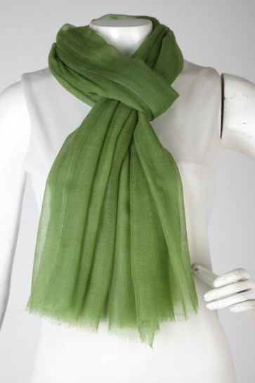 Cashmere Cashmere olive green stole