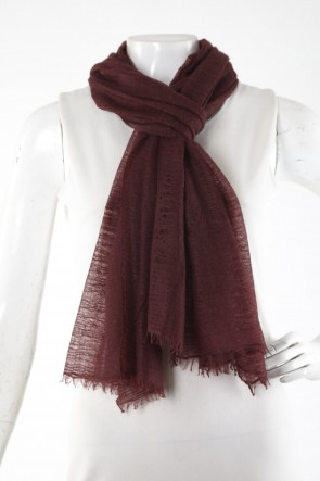 Cashmere burgundy dark wine stole